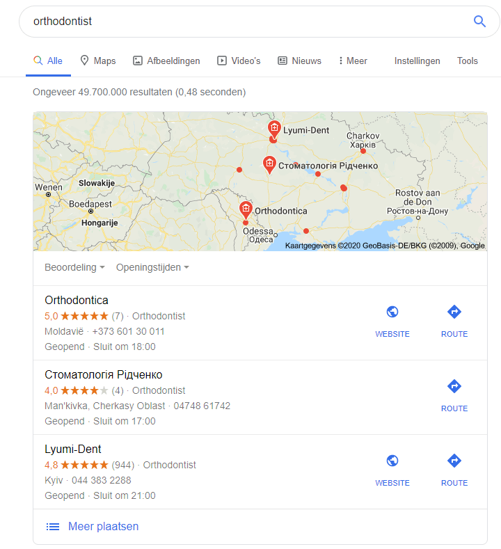 Google: Show Localized Search Results