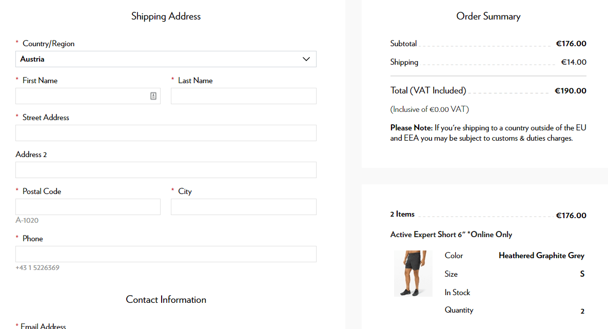 Lululemon: Shorten the Checkout Process