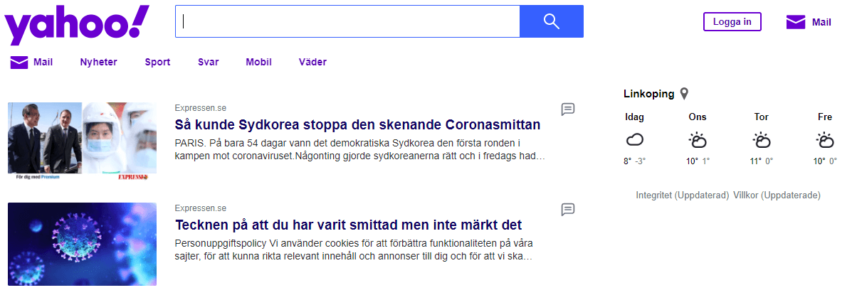 Yahoo! Sweden: Limit User Access to Restricted Content